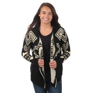 Journee Collection Junior's Aztec Knit Cardigan