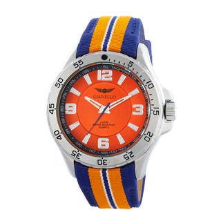 Gianello Racing Stripe Grosgrain Strap Sport Watch|https://ak1.ostkcdn.com/images/products/10664730/P17730117.jpg?impolicy=medium