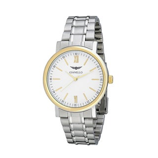 Gianello Men's Stainless Steel Stripe Bracelet Watch