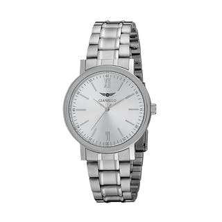 Gianello Men's Stainless Steel Stripe Bracelet Watch|https://ak1.ostkcdn.com/images/products/10664742/P17730128.jpg?impolicy=medium