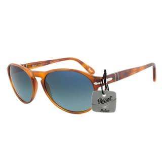Persol PO2931S 96/S3 Terra Di Siena Polarized Sunglasses in Tortoise Frame and Blue Gradient Lenses