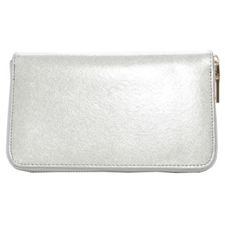 Mechaly Women's 'Katie' Silver Vegan Leather Wallet