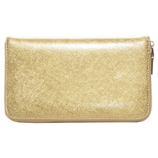 Mechaly Women's 'Katie' Gold Vegan Leather Wallet