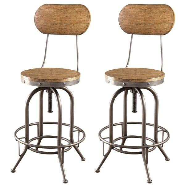 Farmhouse Bar Stools ~ Shop rolien nostalgic farmhouse distressed wood seat