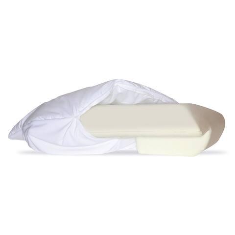 Better Sleep Pillow Pillow Cover Padded Better Sleep Memory, Thick Foam, White