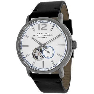 Marc Jacobs Men's MBM9716 Fergus Round Black Leather Strap Watch|https://ak1.ostkcdn.com/images/products/10664865/P17730227.jpg?impolicy=medium