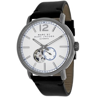 Marc Jacobs Men's MBM9716 Fergus Round Black Leather Strap Watch