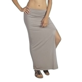 Free to Live Women's Ankle-Length Side Slit Maxi Skirt