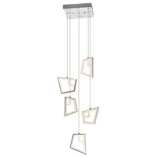Kichler Lighting Contemporary 5-light LED Chrome Chandelier/ Pendant Cluster
