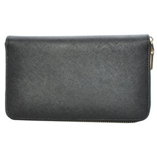 Mechaly Women's 'Katie' Black Vegan Leather Wallet