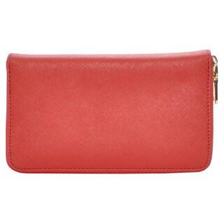 Mechaly Women's Katie Red Vegan Leather Wallet