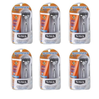 Schick Titanium Razor with SPF 30 Sport Sunscreen (Pack of 6)