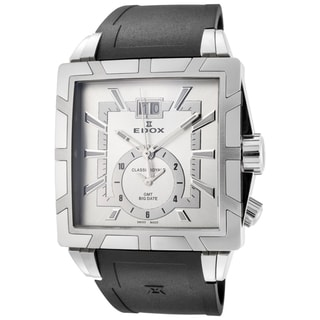 EDOX Classe Royale ED-62002 3 AIN Men's Black/ Silver 40mm Square Quartz Watch