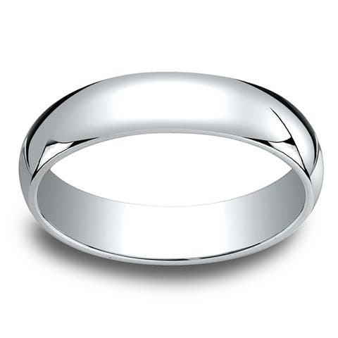 18k White Gold 5mm Traditional Wedding Band - 18K White Gold - 18K White Gold
