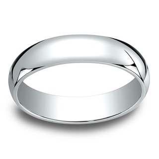 18k White Gold Men's 5mm Traditional Wedding Band