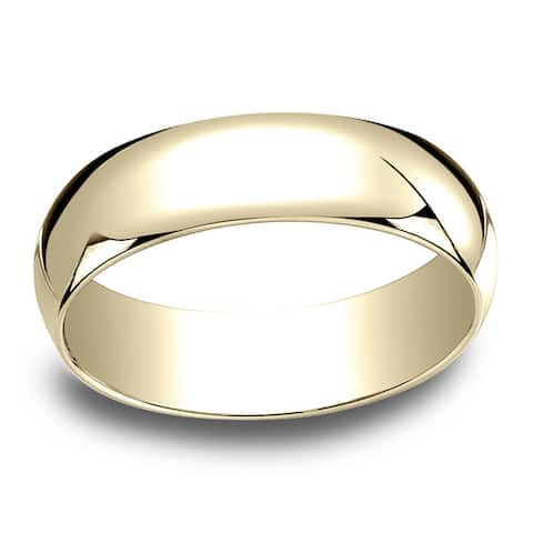 6mm 18k Yellow Gold Traditional Wedding Band - 18K Yellow Gold - 18K Yellow Gold