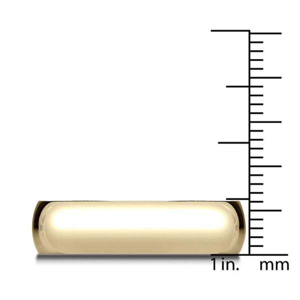 6mm 18k Yellow Gold Traditional Wedding Band - 18K Yellow Gold - 18K Yellow Gold