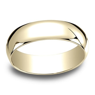 18k Yellow Gold 6mm Traditional Wedding Band