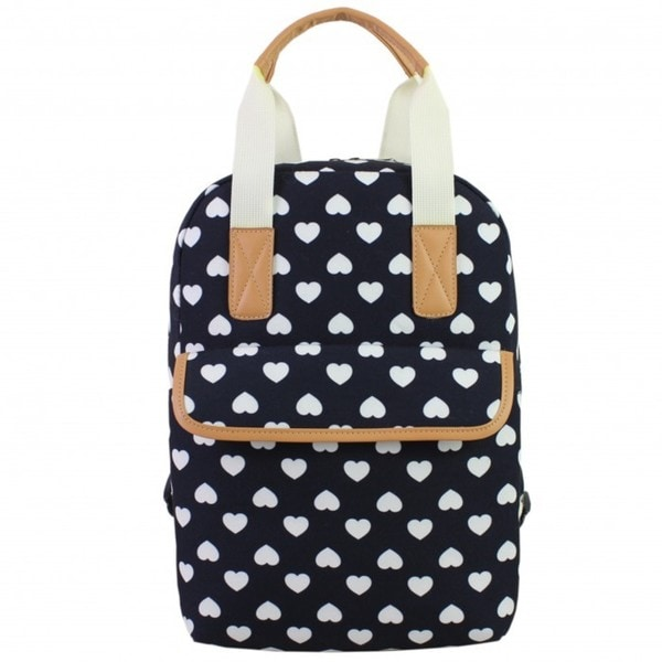 BJX Kids Double Handle Printed Heart Backpack