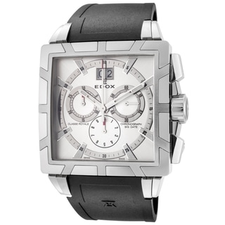 Edox Men's ED-10013 3 AIN Classe Royale Square Chronograph Watch