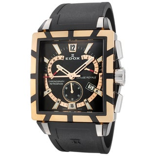 Edox Men's ED-01504 357RN NIR Chronograph Retrograde Classe Royale Watch