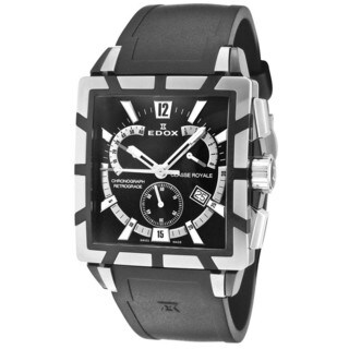 Edox Men's ED-01504 357N NIN Classe Royale Stainless Steel Black Watch
