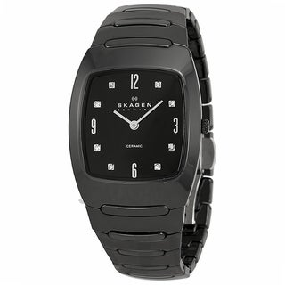 Skagen Women's Ceramic SK-914SBXC Black Quartz Watch