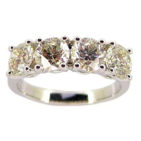 Kabella 18k White Gold 2ct TDW 4-stone Diamond Band Ring (G-H, SI1-SI2)