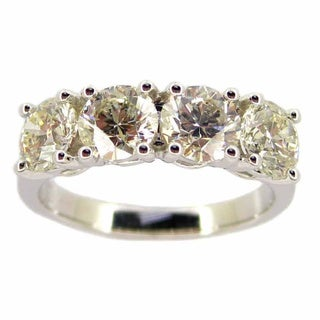 Kabella 18k White Gold 2ct TDW 4-stone Diamond Band Ring (G-H, SI1-SI2)