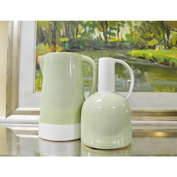 Ceramic Vase and Pitcher Set