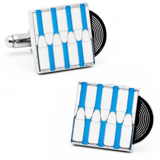 Silvertone Metal Bullet the Blue Sky Record Cufflinks