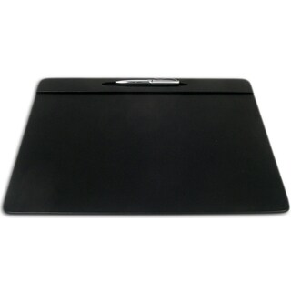 Dacasso Black Leatherette 17x14-inch Top Rail Conference Pad with Pen Well