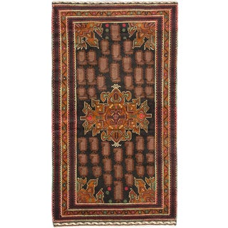 Royal Baluch Brown Wool Rug (3' x 6')