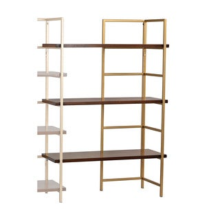 Sterling Balart Gold and Walnut Extension for Shelf Unit