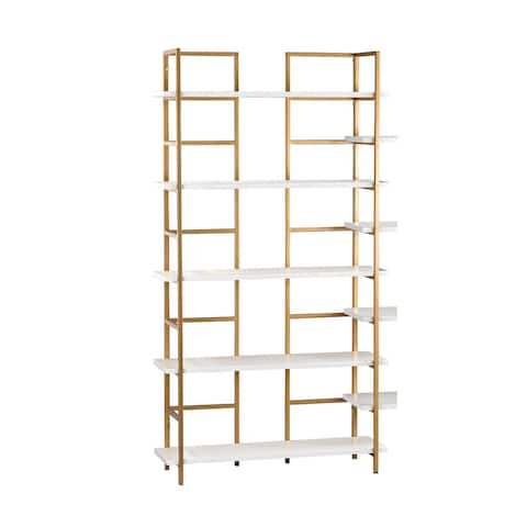 Sterling White and Gold Shelving Unit