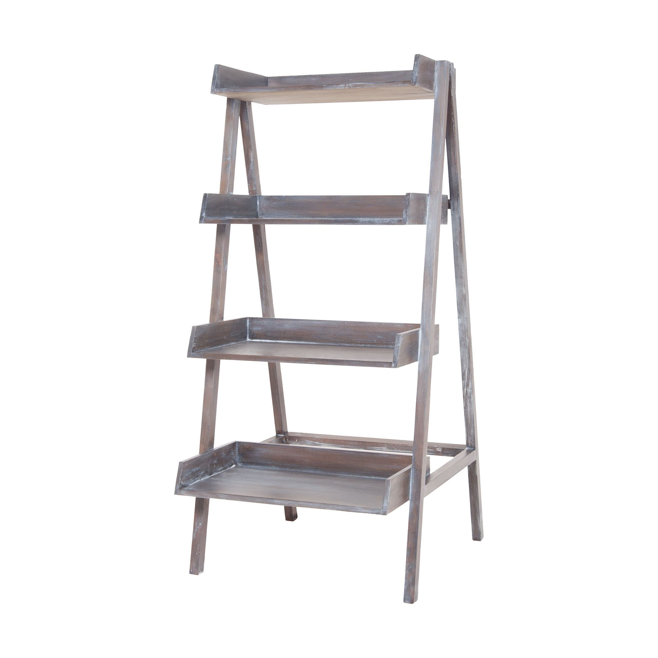 Sterling Grey Wash Stack Ladder (Heritage Grey Stain Whit...