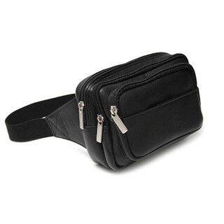 Royce Leather Multi Compartment Fanny Pack in Colombian Genuine Leather
