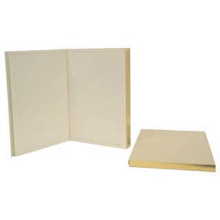 Royce Leather Luxury Gilded Edge Refill Journals (2-pack)