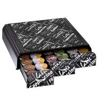 Mind Reader 'Anchor' Coffee Pod Triple Drawer 36 capacity -Black Print