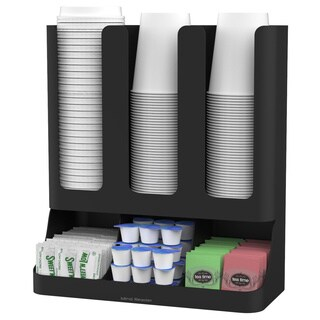 Mind Reader Flume 6-compartment Upright Coffee Condiment and Cups Organizer