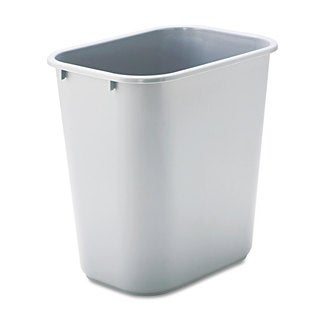 Rubbermaid Commercial Gray Deskside Plastic Wastebasket