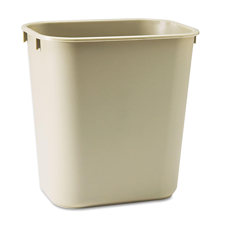 Rubbermaid Commercial Beige Deskside Plastic Wastebasket ...