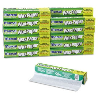 Marcal Kitchen Charm Wax White Paper Roll (Pack of 24)
