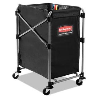 Rubbermaid Commercial Black/Silver Four Bushel Collapsible X-Cart