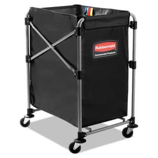 Rubbermaid Commercial Black/Silver Four Bushel Collapsible X-Cart|https://ak1.ostkcdn.com/images/products/10665164/P17730486.jpg?impolicy=medium