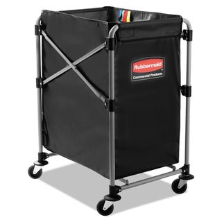 Rubbermaid Commercial Black/Silver Four Bushel Collapsible X-Cart