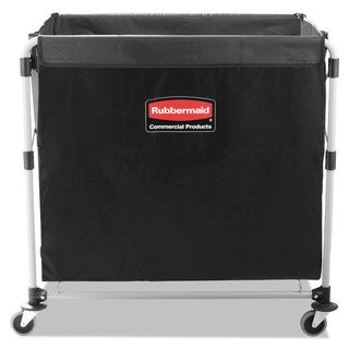 Rubbermaid Commercial Black/Silver Eight Bushel Collapsible X-Cart