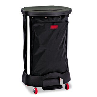 Rubbermaid Commercial Black Step-On Linen Hamper Bag