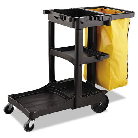 Rubbermaid Commercial Yellow 21gal Zippered Vinyl Cleaning Cart Bag