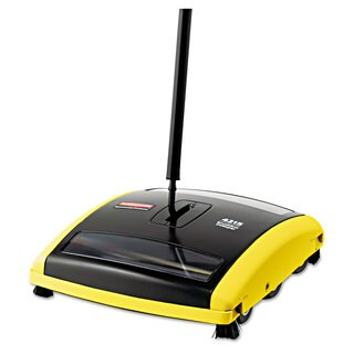 Rubbermaid Commercial Brushless Black/Yellow Mechanical Sweeper